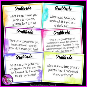 Gratitude Bell Ringers (editable) - 52 prompts for a whole year