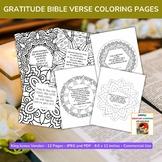 Gratitude Bible Verse Coloring Pages - Set of 12 - Commerc