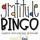 Gratitude Bingo Challenge Elementary School Counseling Tha
