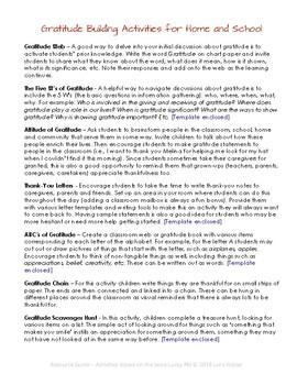 Gratitude Building Activities - Lucky Me - Free Teacher Resource Guide