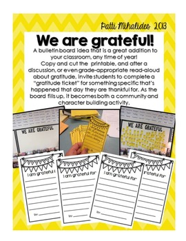 Gratitude Bulletin Board Idea and Printable Free!