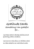 Gratitude Cards - Perfect for Thanksgiving!