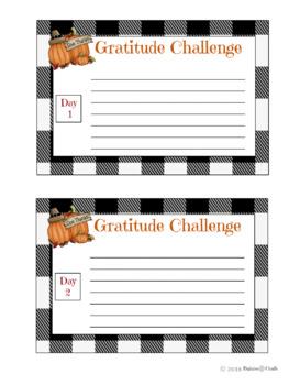 Gratitude Challenge Journal