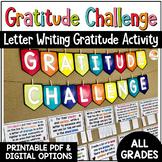 Gratitude Challenge   Gratitude Activities Letter Writing w/ Digital Option
