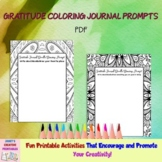 Gratitude Coloring Journal Prompts - Commercial Use Allowed
