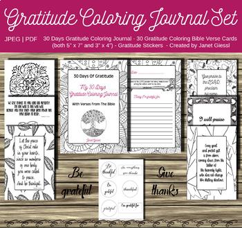 Gratitude Coloring Journal Set