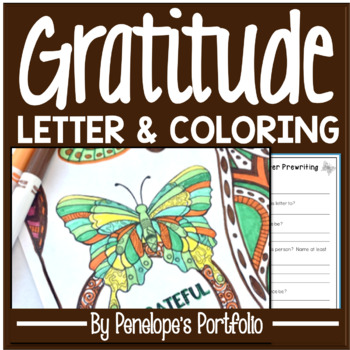 Gratitude Activity / Thankful Activity: Gratitude Coloring Pages