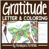Gratitude Activity: Gratitude Coloring Pages & Letter / Gr