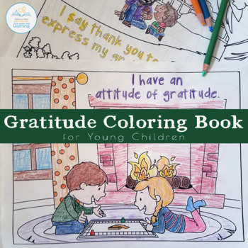 Gratitude Coloring Pages for Young Children