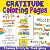 Gratitude Coloring for Building Character | Thanksgiving - US Letter Format