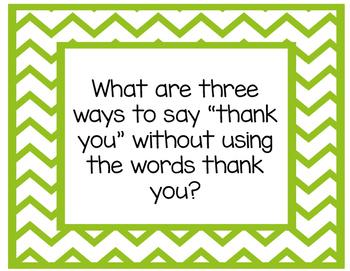Gratitude Discussion Starters
