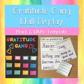 Gratitude Gang Wall Pockets - BLACK & WHITE
