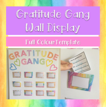 Gratitude Gang Wall Pockets - FULL COLOUR