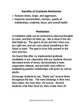 Gratitude Guided Meditation (teachers)