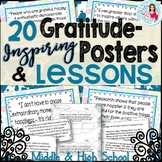 Gratitude Posters & ELA Lessons | Great for November & Tha