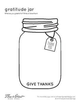 Gratitude Jar Coloring Page