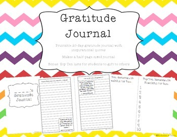 Gratitude Journal - 20 prompts