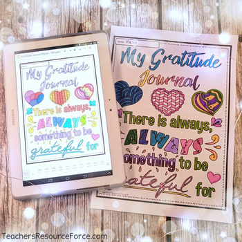 Distance Learning Gratitude Journal Digital and Printable [for 1 YEAR]