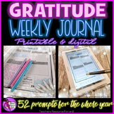 Distance Learning Gratitude Journal Digital and Printable