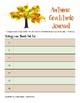 Gratitude Journal - AUTUMN, FALL, THANKSGIVING