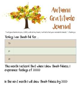 Gratitude Journal - BUNDLE - 4 Seasons - THANKSGIVING, CHRISTMAS, SPRING, SUMMER