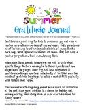 Gratitude Journal - SUMMER