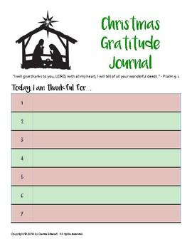 Gratitude Journal - CHRISTMAS, DECEMBER, WINTER