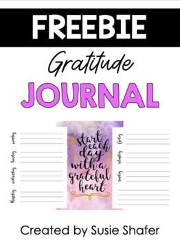 Gratitude Journal (FREEBIE!)