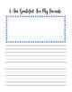 Gratitude Journal For Kids - I am Grateful for , I am Grateful for My Friends