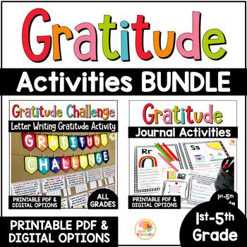 Gratitude Journal | Gratitude Activities BUNDLE