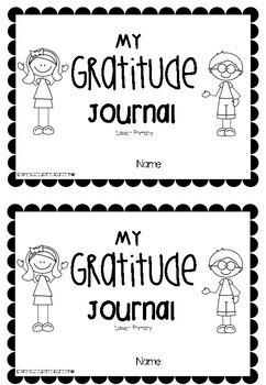 Gratitude Journal - Lower Primary