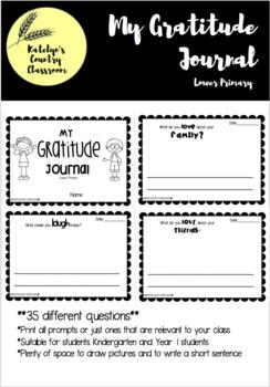 BUNDLE Gratitude Journal - Lower + Upper Primary
