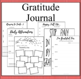 Gratitude BulleJournal- Mindful Reflection on Daily Gratitude- Positive Thinking