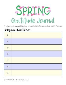 Gratitude Journal - SPRING