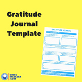 Gratitude Journal Template Page