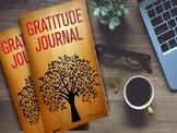 Gratitude Journal | Thanksgiving Gratitude Lessons High School | Bell-Ringer