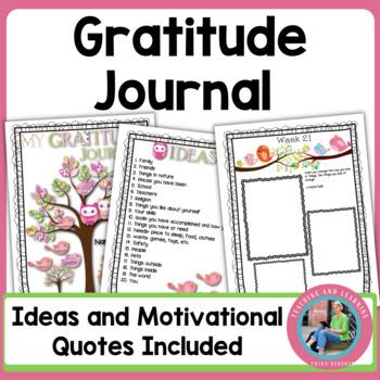 Gratitude Journal for Kids for New Years