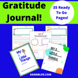 Gratitude Journal in English and Spanish-My 5 Little Things
