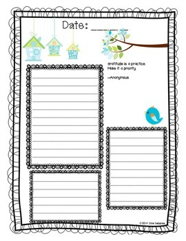 Gratitude Journal for Kids Sneak Peek Freebie