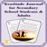 Distance Learning | Gratitude Journal for Secondary School