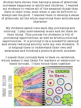 Gratitude Journal for Students