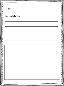 Gratitude Journal with Multiple Page Options