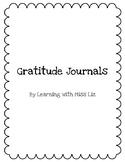 Gratitude Journals for Kids