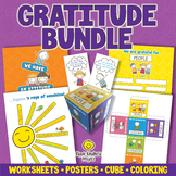 GRATITUDE ACTIVITIES BUNDLE Game, Coloring Pages, Workshee