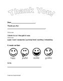 Gratitude Letter 1-2nd grade