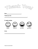 Gratitude Letter Pre-K to K
