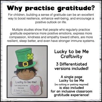 gratitude march st patrick s day craftivity writing social