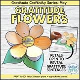 Gratitude May Spring - Flower Power    Craftivity & Writing    Social Emotional
