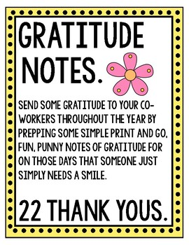 Gratitude Notes for Colleagues