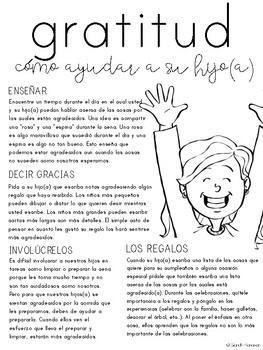 Gratitude Parent Letter - SPANISH
